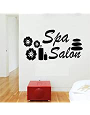 Spa Salon Stones and Candles Vector Wall Stickers Vinyl Decals Massage spa Salon Decoration 78x42cm