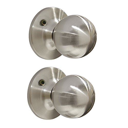 Decorative Trim Door Knob - Decorative Inactive Trim Ball Knob Single Dummy Door Knob Satin Nickel 2 Pack