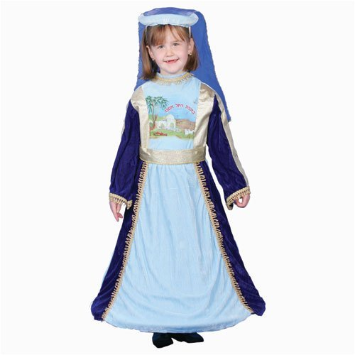 [Jewish Mother Rachel Costume Set - Medium 8-10 by Dress Up America] (Jewish Mother Rachel Costume)