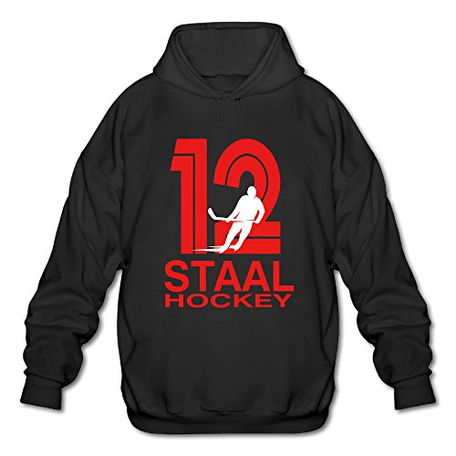 Hockey Player Hooded Sweatshirt Black Medium (Staal Player)