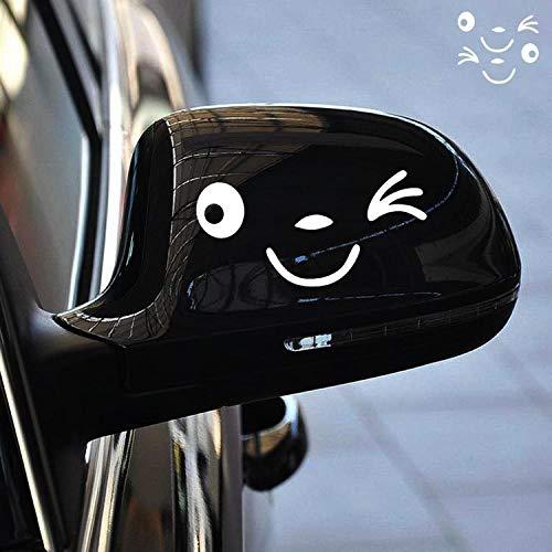 Beau et Unique Stickers voiture créatifs Smiley mignon Stickers corps réfléchissant (blanc) KeavyLee