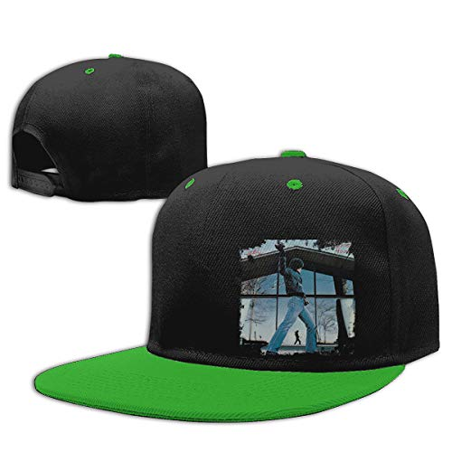 LEILEer Billy Joel Glass Houses Unisex Contrast Hip Hop Baseball Cap Green