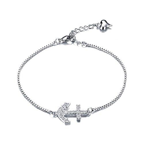 LOCHING Fashion chic anchor cross arrow love heart alloy inlaid Rhinestone bracelet