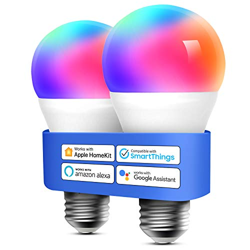 Bombilla LED Multicolor Inteligente WiFi – Regulable, Mando a Distancia, 9W, E27, 2700-6500 K, Compatible con Apple…