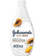 جونسون، لوشن الجسم، Vita-Rich، نعومة، 400 مل