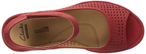 Women's Reedly Sandals Red Salene Nubuck Clarks 4dxBwF4q