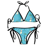 Women Swimwear Llama Boxing Bikini Set Swimsuits 2 Piece