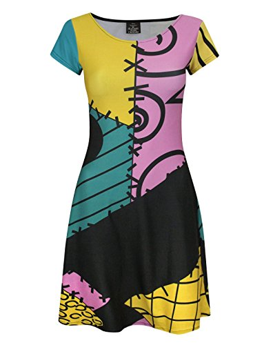 Official Nightmare Before Christmas Sally Costume Dress (S)]()