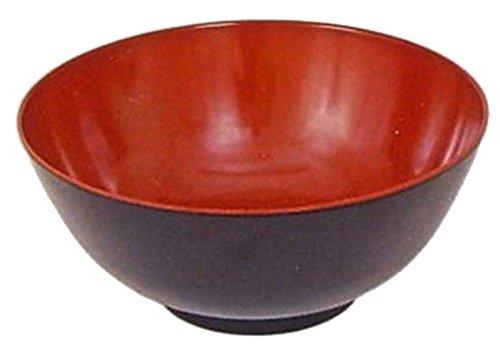 Happy Sales HSNB-MRB52L, Red Black Melamine Udon Ramen Noodle Soup Bowls 52 (Noodle Bowl)