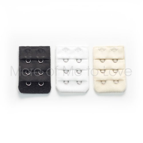 Two-hook Bra Extender 3-pack - black, white, (Black Hy Part)