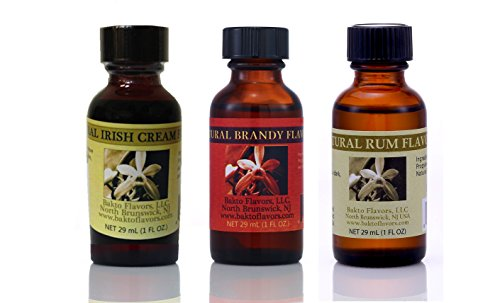 Bakto Flavors Baking Needs - Irish Cream - Brandy - Rum Collection (Best Brandy For Baking)