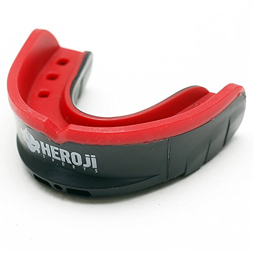 Heroji Mouth Guard - For Sports with Case. Mouthguard Designed Best for Hockey, Football, Boxing, MMA, Basketball, Baseball, Muay Thai, & Karate! - Protection & Comfort