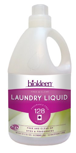 Biokleen Laundry Liquid, Free & Clear, 64 Ounces (Pack of 6)