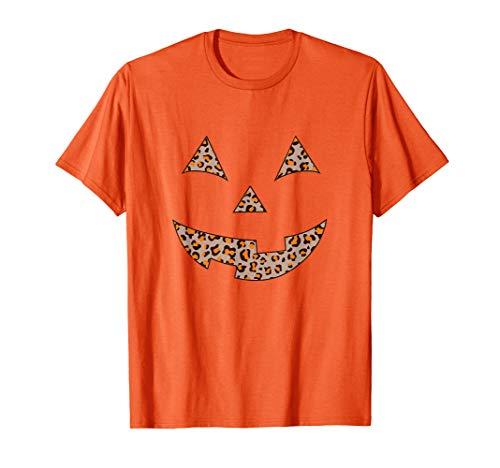 Women's Leopard Print Jack O Lantern Pumpkin Halloween ()
