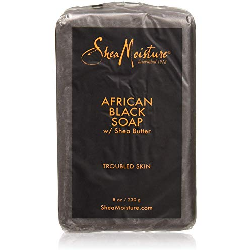 - Shea Moisture African Black Soap With Shea Butter 8 oz (Pack of 5)