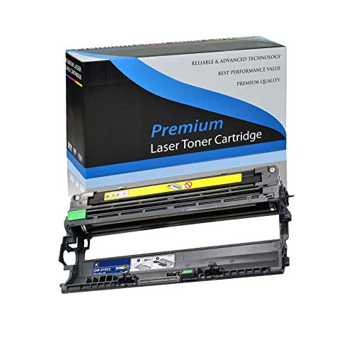 KCMYTONER Black Drum Unit Compatible with Brother DR210 HL-3040CN HL-3045CN HL-3070CW HL-3075CW MFC-9010CN MFC-9120CN MFC-9125CN MFC-9320CN MFC-9320CW MFC-9325CW Laserjet Printer (Black, 1 Pack) ()