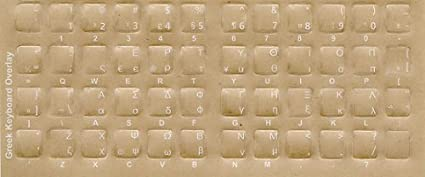 Greek Keyboard Stickers - Labels with White Characters for Black Computer  Keyboard