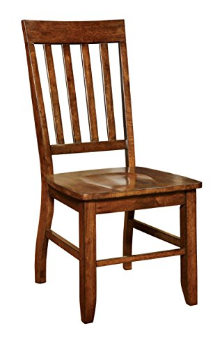 Slat Back Chair (Furniture of America Castile Transitional Dining Chair, Dark Oak, Set of 2)