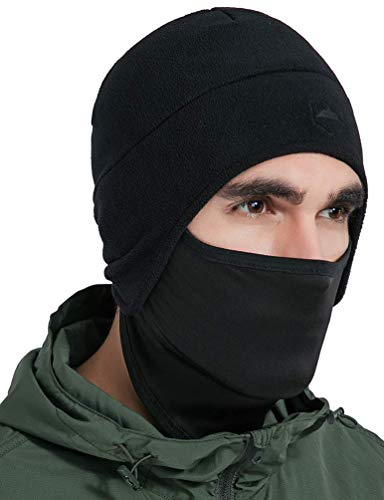 Headwear Men Apparel (Tough Headwear Helmet Liner Skull Cap Beanie with Ear Covers - Ultimate Thermal Retention and Performance Moisture Wicking. Perfect for Running, Cycling, Skiing & Winter Sports. Fits Under Helmets)