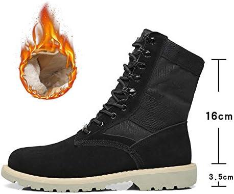 Casual Suede Shoe Männer Lace Up Knöchel Kampfstiefel Frauen Casual High Top Martin Stiefel Echtes Leder Splice Leinwand Vamp Lovers Schuhe Herren Sneaker  Mtn0J