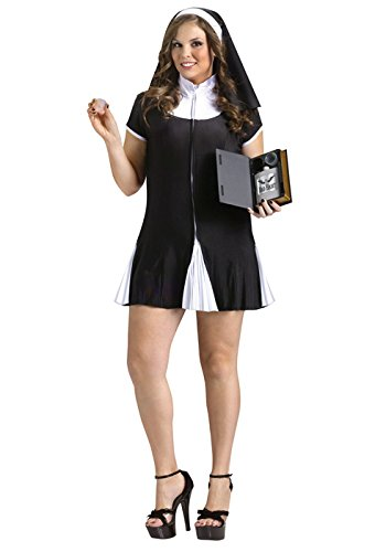 [Bad Habit Costume - Plus Size 1X/2X - Dress Size 16-20] (Bad Habit Nun Costumes)