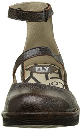 FLYA4|#Fly London Plan717fly, Atado Al Tobillo para Mujer Gris (Slate 013)