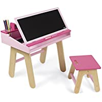 Janod Desk & Chair, Pink