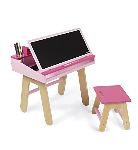 Janod Desk & Chair, Pink by Janod