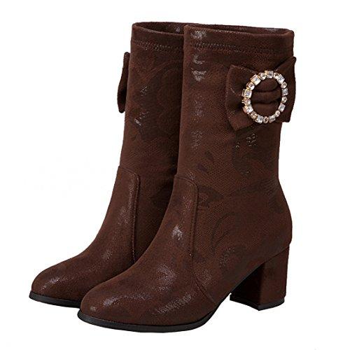 AIYOUMEI Classic Brown Women's AIYOUMEI Brown Classic Women's Boot AIYOUMEI Boot aPaqAn1w