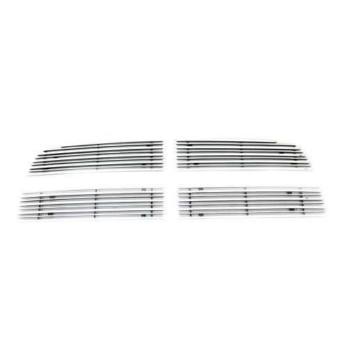 EAG 3D Horizontal Overlay 4PCS Billet Grille Replacement for 09-12 Dodge Ram 1500