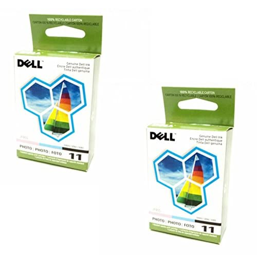 Nice 2-Lot Pair Bulk Genuine Dell Series 11 Photo JP455, DX518 Standard Ink Cartridge For Printer Models 948, V505, V505w supplier