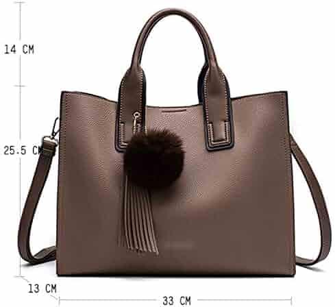 02e62964398 Chibi-store Women Leather Handbags Casual Brown Tote bags Crossbody Bag TOP-handle  bag