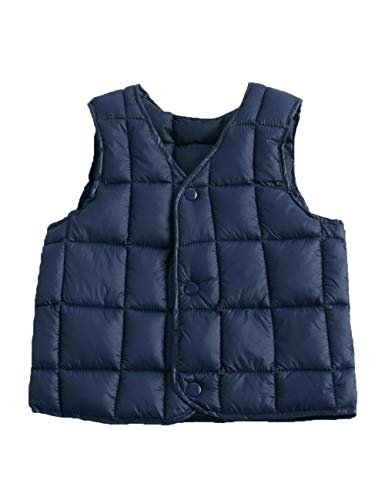Vest Gilet Outwear Lightweight Jacket Warm Boys Down Sleeveless Child Waistcoat Cotton BESBOMIG Slim Casual Navy fit for Girls xqIgpS