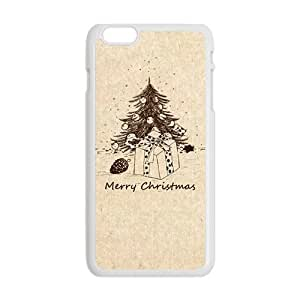 Happy Christmas Hand Drawing Christmas tree Phone Case for Iphone 6