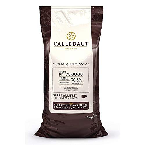 Barry Callebaut Dark Chocolate Callets   70.5% Cocoa   Recipe 70-30-38   Cacaoholic Scooper   22 Pounds