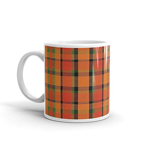 Westy Tartan Orange | Bulli Boys 11 Oz White Ceramic