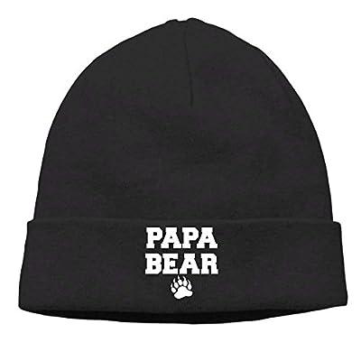 SunRuMo Men's Papa Bear Casual Style Street Dance Black Beanies Watch Cap by SunRuMo