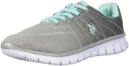 U.S. Polo Assn..(Women's Women's Mandy-GR Oxford, Grey/Mint, 8.5 Medium US ()