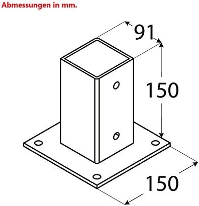 SEIFIL-PER - Anclaje Pergola 9X9 Cemento 452103: Amazon.es: Bricolaje y herramientas
