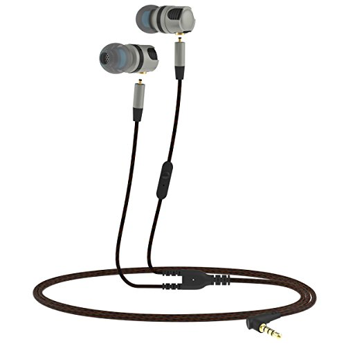 OLSUS Hi-Fi Wired Music Headset Detachable In-Ear w/Mic - Grey by OLSUS