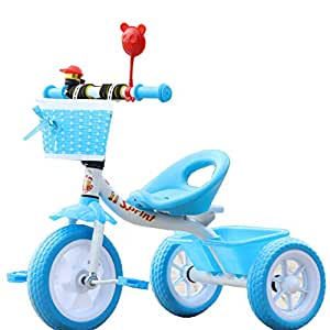 LovemyhomeDD Steel Children's Tricycle 1-3 Year Old Baby Toddler Toy (Blue)