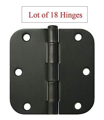 18 Oil Rubbed Bronze 3.5'X3.5' w 5/8' Radius Round Corner Interior Door Hinges Bronze Door Hinges 5/8' Radius