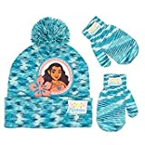 Disney Moana Character Beanie Winter Hat And Mitten Set - Toddler Size