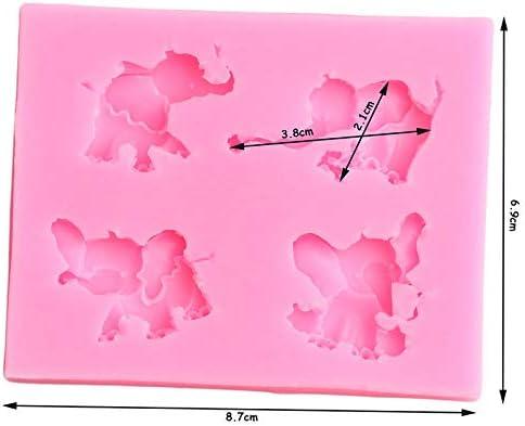YCEOT 3D Elefant Silikonform Rose Flower Birds S/ü/ßigkeiten Schokoladenformen DIY Baby Geburtstag Cupcake Topper Fondant Kuchen Dekorationswerkzeuge