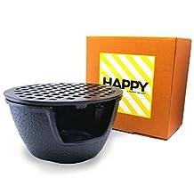 """Happy Sales HSTW1, Cast Iron Teapot Warmer Large 5.5 """"D Black"""