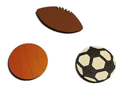Embellish Your Story 12207M Sports Balls set of 3 Assoted Magnets Made in USA by Embellish Your Story