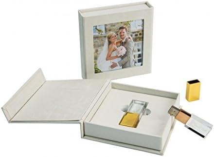 Boda USB Stick Kristal con USB de Caja.: Amazon.es: Electrónica