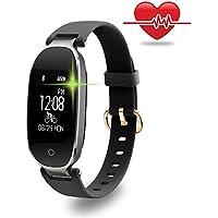 Fitness Tracker, Women Sport Tracker Smart Watch Band Bracelet, Heart Rate Monitor Smart Bracelet,Wristband Watch with Health Sleep Activity Tracker Pedometer for Smart Phone