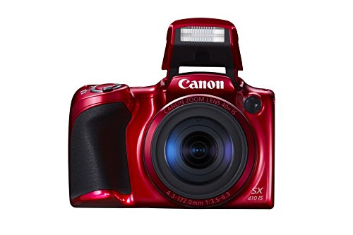 Canon PowerShot SX410 IS Digital Kamera (7,6 cm (3,0 Zoll) Display, 20 Megapixel, 40-fach opt. Zoom, HDMI Mini, USB 2.0) rot