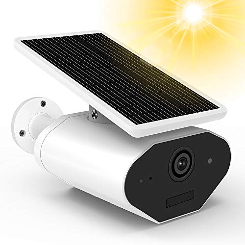 Outdoor Solar Battery Power Security Camera,1080P Wireless Rechargeable Battery IP Camera with Motion Detection, IP CCTV Video Cam with Night Vision and SD Card Slot for Indoor and Outdoor Suveillance (Wifi Sd Battery)